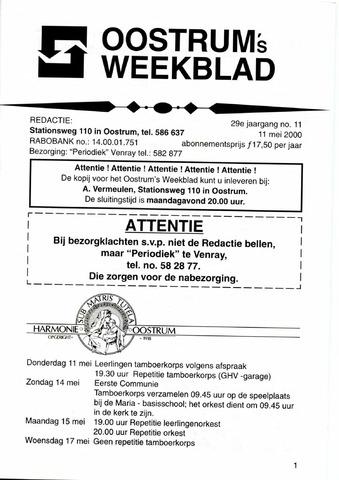 Oostrum's Weekblad 2000-05-11