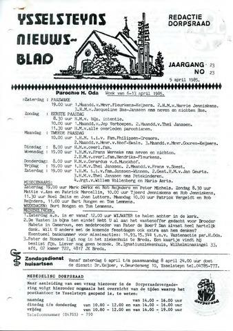 Ysselsteyns Nieuwsblad 1985-04-05