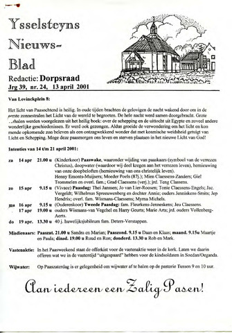 Ysselsteyns Nieuwsblad 2001-04-13