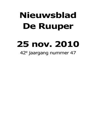 Dorpsblad Leunen-Veulen-Heide 2010-11-25