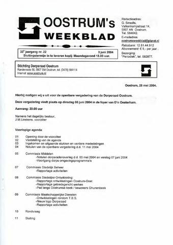 Oostrum's Weekblad 2004-06-03