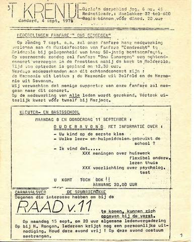Oirlo's dorpsblad 't Krèntje 1975-09-04