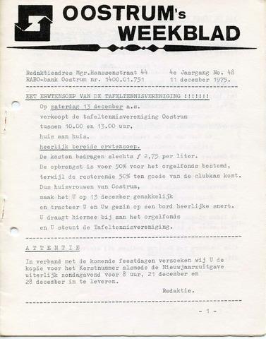 Oostrum's Weekblad 1975-12-11