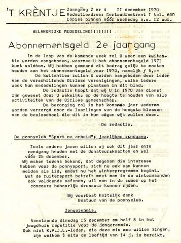 Oirlo's dorpsblad 't Krèntje 1970-12-11