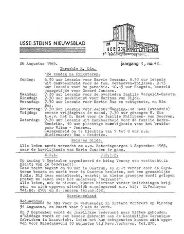 Ysselsteyns Nieuwsblad 1965-08-26