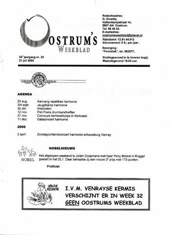 Oostrum's Weekblad 2005-07-21