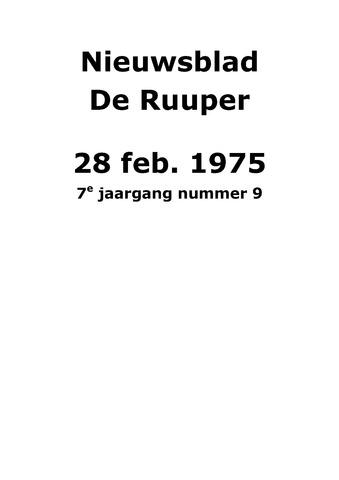 Dorpsblad Leunen-Veulen-Heide 1975-02-28