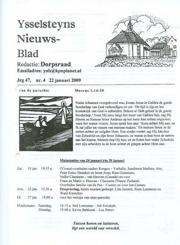 Ysselsteyns Nieuwsblad 2009-01-22