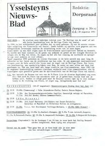 Ysselsteyns Nieuwsblad 1993-08-20