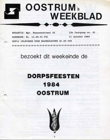 Oostrum's Weekblad 1984-10-11