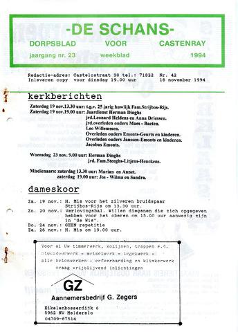 Castenrays dorpsblad De Schans 1994-11-18