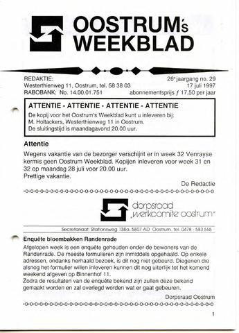 Oostrum's Weekblad 1997-07-17