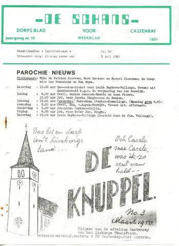 Castenrays dorpsblad De Schans 1981-07-03