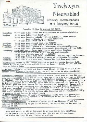 Ysselsteyns Nieuwsblad 1977-05-13