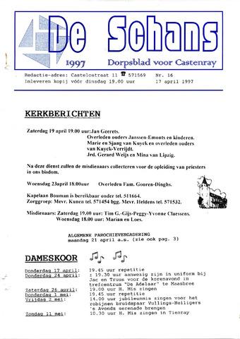 Castenrays dorpsblad De Schans 1997-04-17
