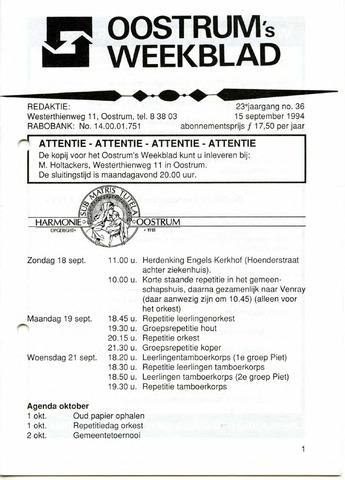 Oostrum's Weekblad 1994-09-15