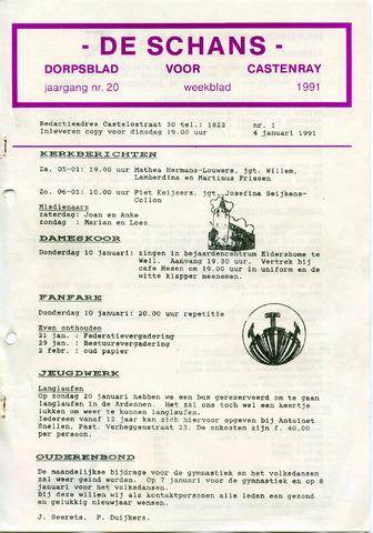 Castenrays dorpsblad De Schans 1991
