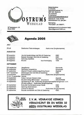 Oostrum's Weekblad 2005-07-28