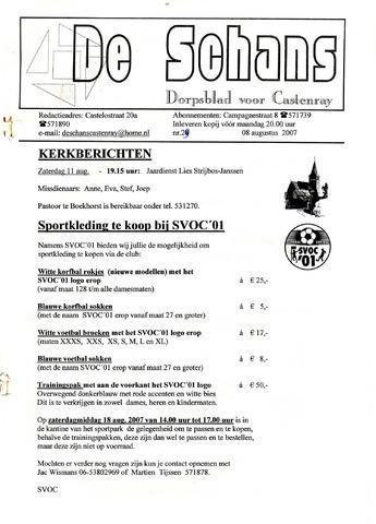 Castenrays dorpsblad De Schans 2007-08-08