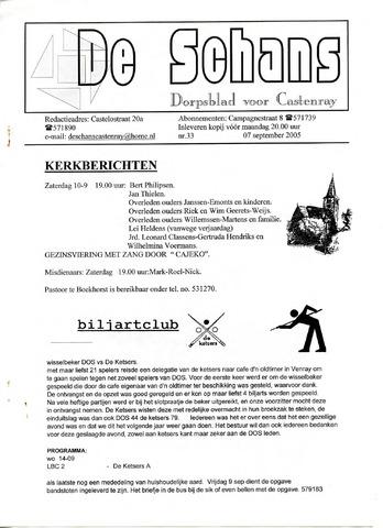 Castenrays dorpsblad De Schans 2005-09-07