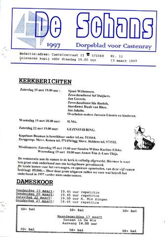 Castenrays dorpsblad De Schans 1997-03-13