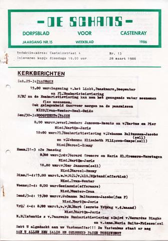 Castenrays dorpsblad De Schans 1986-03-28