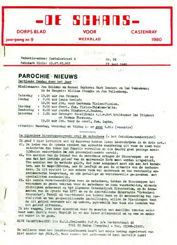 Castenrays dorpsblad De Schans 1980-06-27