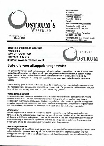 Oostrum's Weekblad 2008-04-10