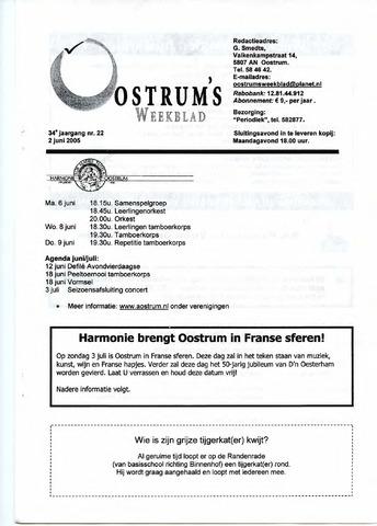 Oostrum's Weekblad 2005-06-02