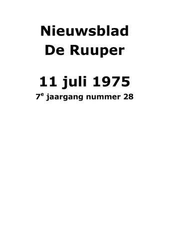 Dorpsblad Leunen-Veulen-Heide 1975-07-11