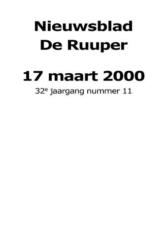 Dorpsblad Leunen-Veulen-Heide 2000-03-17
