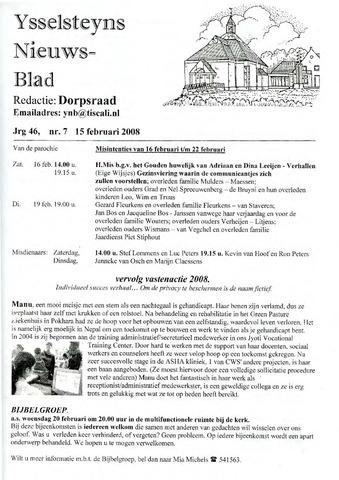 Ysselsteyns Nieuwsblad 2008-02-15