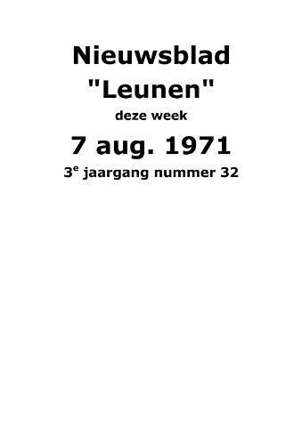 Dorpsblad Leunen-Veulen-Heide 1971-08-07