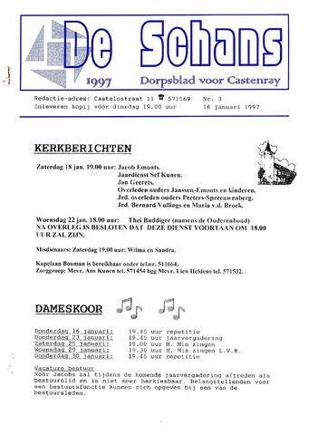 Castenrays dorpsblad De Schans 1997-01-16