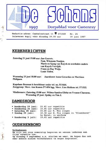 Castenrays dorpsblad De Schans 1997-06-19