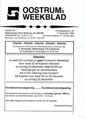 Oostrum's Weekblad 1998-12-17