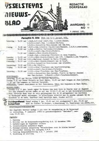 Ysselsteyns Nieuwsblad 1985-01-04