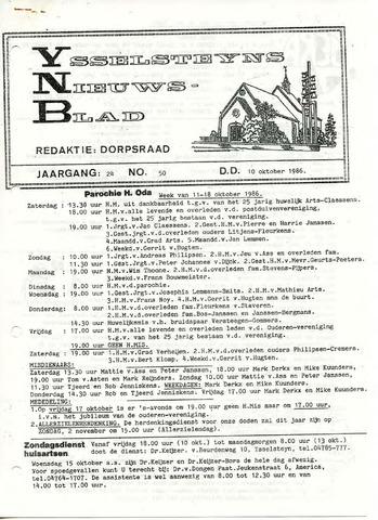 Ysselsteyns Nieuwsblad 1986-10-10