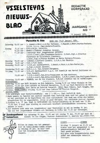 Ysselsteyns Nieuwsblad 1984-01-13
