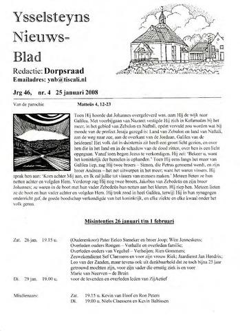 Ysselsteyns Nieuwsblad 2008-01-25