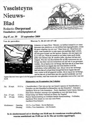 Ysselsteyns Nieuwsblad 2009-09-25