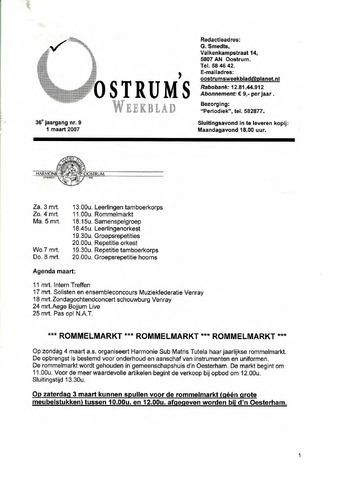 Oostrum's Weekblad 2007-03-01