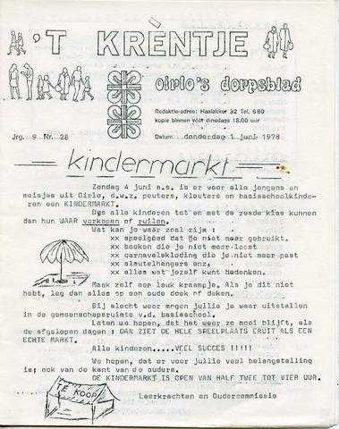 Oirlo's dorpsblad 't Krèntje 1978-06-01
