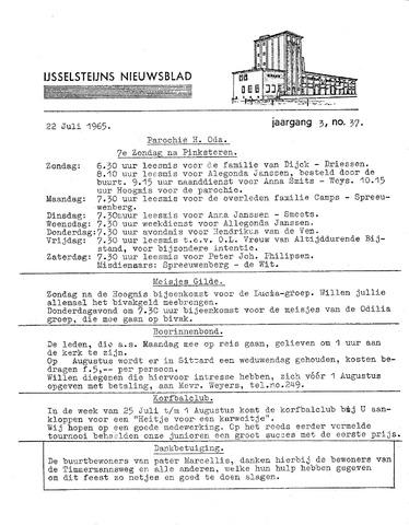 Ysselsteyns Nieuwsblad 1965-07-22
