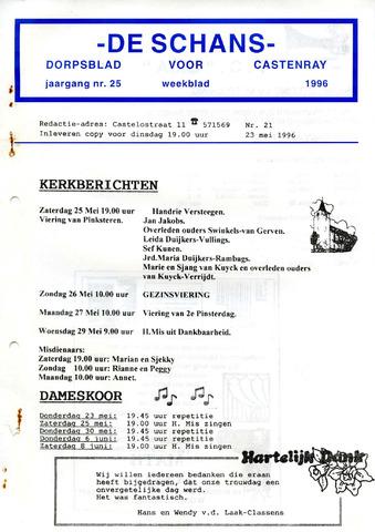 Castenrays dorpsblad De Schans 1996-05-23