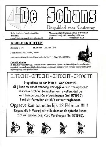 Castenrays dorpsblad De Schans 2009-02-04