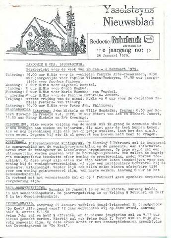 Ysselsteyns Nieuwsblad 1979-01-26