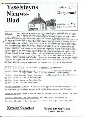 Ysselsteyns Nieuwsblad 1994-11-18