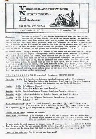 Ysselsteyns Nieuwsblad 1988-11-18