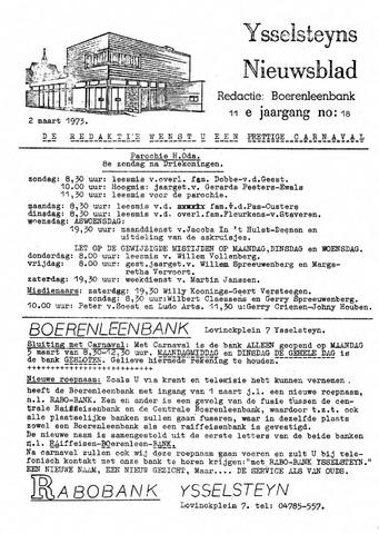 Ysselsteyns Nieuwsblad 1973-03-02